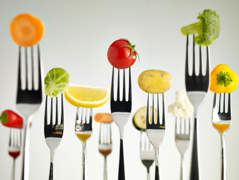 food on spoon