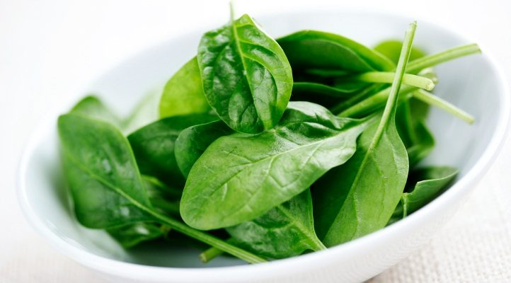 Spinach- a food rich in Vitamin A