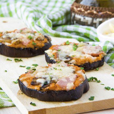 Healthy Eggplant Pizza