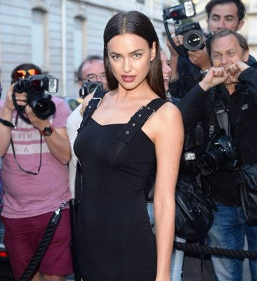 Irina Shayk at the Vogue Foundation Gala in Paris, France. Credit: Splash News.