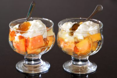 The papaya dessert
