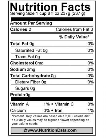 Chamomile nutricion