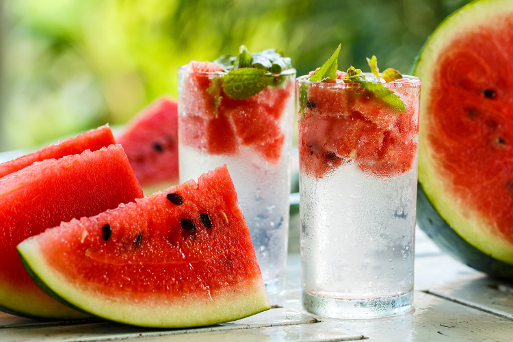Detox water with watermelon