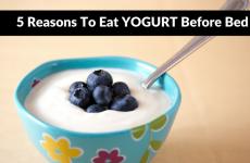 Yogurt Before Bed
